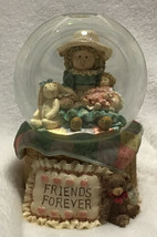 Friends Forever Music Box Snow Globe San Francisco Music Box Company - $28.05