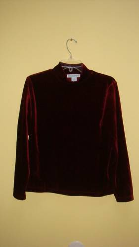 Misses Mock Neck Long Sleeves Verlour Top - S - NWOT Bonanza