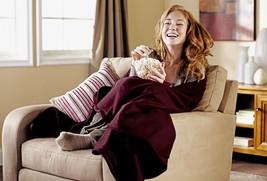 Heated Throw Blanket Electric Red Fleece Soft & Warming Cozy w/ Controll... - $66.51 CAD