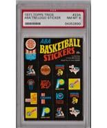 1971 Topps Trios ABA Team Logo Stickers #23A PSA 8 P582 - $123.77