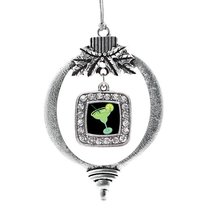 Inspired Silver Margarita Lovers Classic Holiday Christmas Tree Ornament With Cr - $14.69