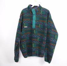 Vtg 90s New Columbia Mens Medium Navajo Aztec Print Snap T Fleece Jacket... - $95.98