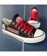 49ers shoes womens 49ers sneakers converse style tennis shoe san francis... - $80.00