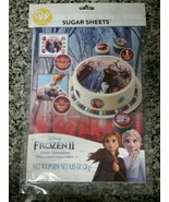 "Wilton Frozen 2, Precut Sugar Sheets for Cakes, Cupcake 8"" Round or 9""x1... - $5.94"