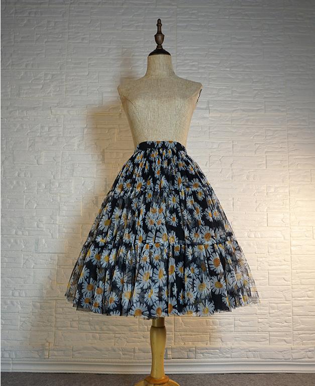 Flower tulle skirt  1