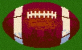 Latch Hook Rug Pattern Chart: Football -EMAIL2u - $5.75