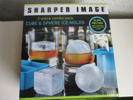 Sharper Image Cube & Sphere Ice Molds 2 Piece Combo Pack - ₨880.80 INR