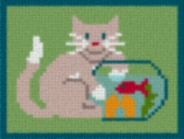 Latch Hook Rug Pattern Chart: GOING FISHING - EMAIL2u - $5.75