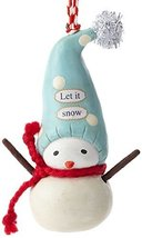 Enesco Bea's Wees Gift Let it Snow Ornament, 4.25-Inch