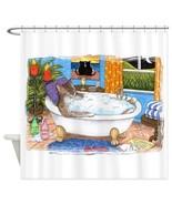 Shower Curtains Curtain Cat 567 funny Bath Bathroom art painting L.Dumas - $68.99