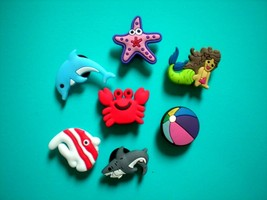 s Shoe Charm Plug Buttons Fit WristBands Bracelet Belt 7 Ocean Animal - $9.99