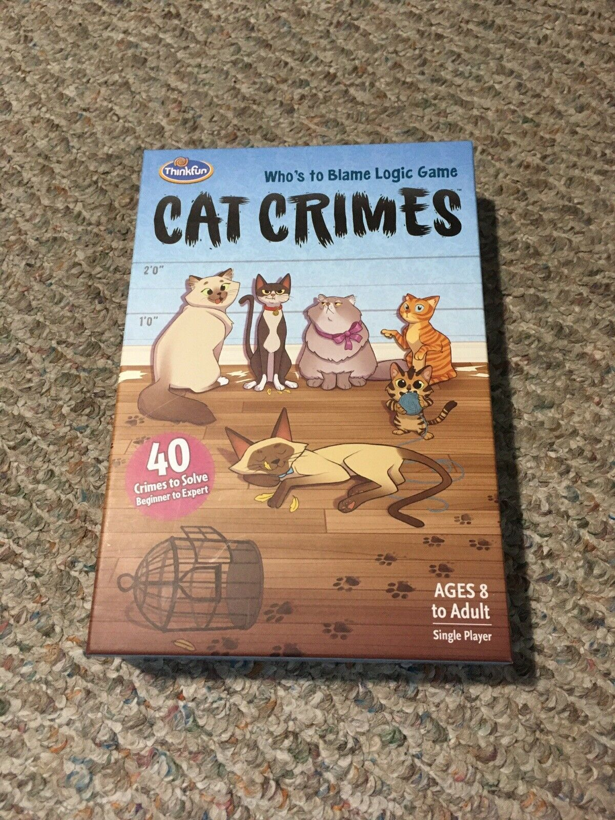 Primary image for ThinkFun Cat Crimes Who' To Blame Logic Game Excellent Condition 100% Complete