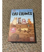 ThinkFun Cat Crimes Who' To Blame Logic Game Excellent Condition 100% Co... - $17.52