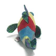 Webkinz Ganz Pucker Fish Plush Blue Red Metallic Stuffed Animal No Code image 3