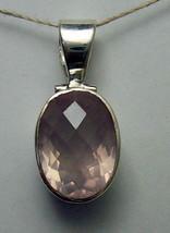 925 / 800 Silver Pink Rose Quartz Pendant 6.3g(HALLMARKED In The Uk) - $60.51