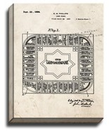 The Landlord's Game Board Patent Print Old Look on Canvas - $39.95+