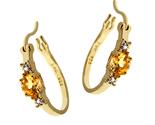 Citrine and diamond hoop earrings thumb155 crop