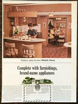 1965 Mobile Homes Manufacturers Assoc Print Ad Furnishings Brand Appliances - $11.69