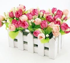 Artificial Flowers Party Decor Floral Peony Leaf Heads Flower Bouquet Ac... - $12.34