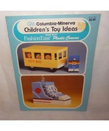 Childrens Toy Ideas Plastic Canvas 1980 Columbia Minerva Bus Shoe Bank R... - $9.99