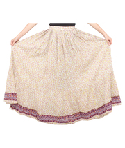 Pink flower jaipuri skirt thumb200