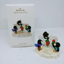 2010 Hallmark A Fishy Wish Christmas Ornament Penguins w Box - $15.47