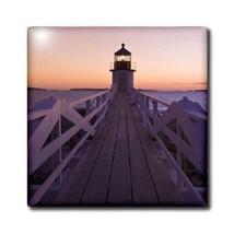 "Angelandspot Art Marshall Point Lighthouse Maine USA On A 12"" Ceramic Ti... - $19.16"