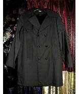 Charcoal Gray P-Coat 1960'S Mod All Weather Car Coat with furry Lining   - $25.00