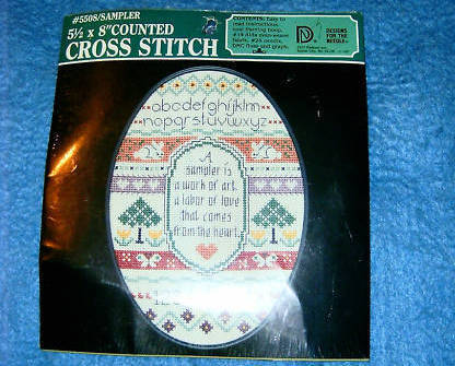Cross Stitch Kit Sampler No 5508 Designs For The Needle