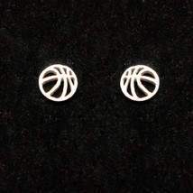 Silver Basketball Stud Earring - $35.00