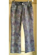Unusual faux Snake Stretch Highrise Jeans/Pan... - $18.88