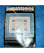 Bless This House Sampler Cross Stitch Kit Dimensions  - $12.00