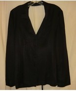 80's  Sexy Flashdance Style Black Suit Jacket -Lg. - $25.00