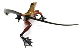 FROGMAN by Tim Cotterill Bronze TWIN LADYBUG Frog 111/5000 2003 RETIRED - £818.08 GBP