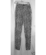 Black and White Snake print Stretch Pant/Jeans-sz.2 - $15.00