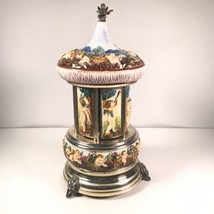 Reuge Music Cigar Carousel Music Box Automaton Music Box Dancers Vintage - $242.74
