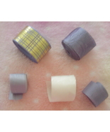 Set of 5 New Lavender and White Ribbon Rolls - $5.00