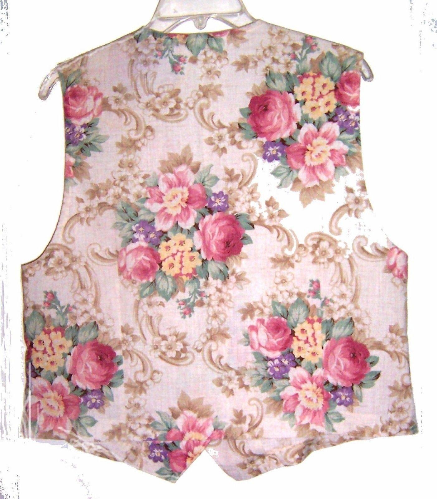 Sz S-M/L - Handmade 100% Cotton Reversible Vests