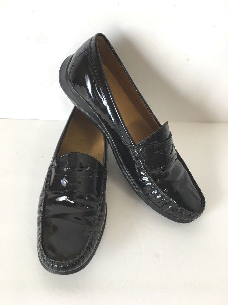 cb4a8a7e3bb S l1600. S l1600. Previous. COLE HAAN AIR ERIKA PENNY LOAFERS SLIP ON  WOMEN S 8.5B BLACK LEATHER D29534