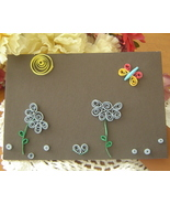New Handcrafted Paper Quill Plaque with Stand Butterfly - $14.99