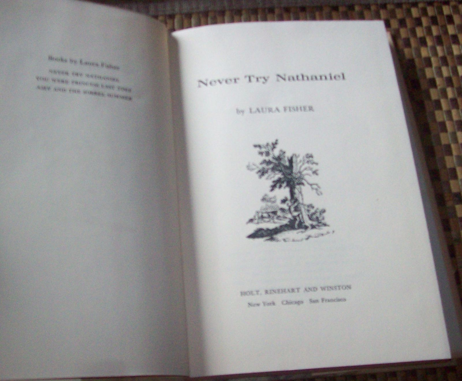Never Try Nathaniel by Laura Fisher 1968 HBDJ  Idaho Homestead