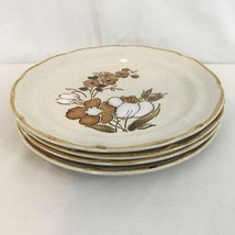 Baroque Autumn Fair Hearthside Stoneware Japan Hand Painted Dinner Plates (4) - $28.71