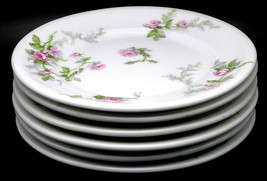 """set/6 Haviland Limoges France Pink Rose Pattern Porcelain B&B plates, 6.25"""" - $54.44"""