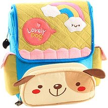Infant Knapsack Baby Children Backpack Prevent from Getting Lost Green Dog