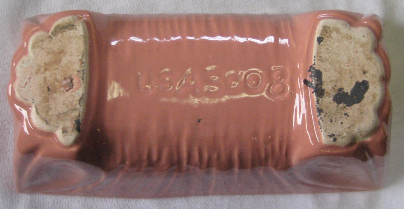 Vintage Pink/Salmon Color Planter Marked USA 3008