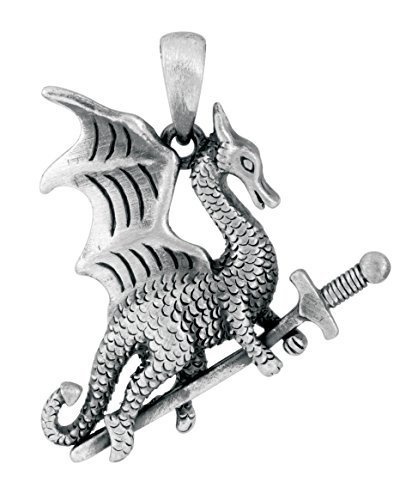 YTC Summit Warrior Dragon Pendant Collectible Accessory Necklace Lizard Medallio