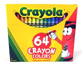 Crayola Classic Color Crayons in Flip-Top Box Pack With Sharpener, 64 Colors - $16.79