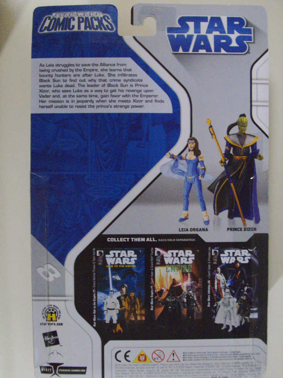Star Wars Shadows of the Empire Leia Organa & Prince Xizor Comic Packs #4 - New