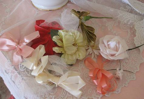 Vintage Millinery Flowers Ribbons
