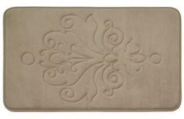 Reve Micro Plush Memory Foam Bath Mat with (20 in. x 32 in. Linen) - $37.16